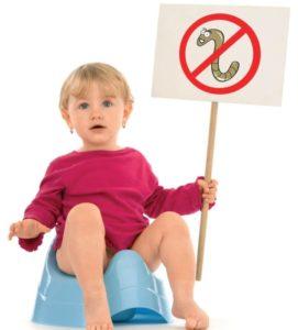 Как избавиться от глистов у годовалого ребенка